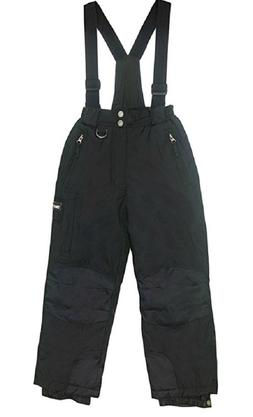 Weatherproof 32 Degree Boys Zip Off Suspender Snow Pants Bla