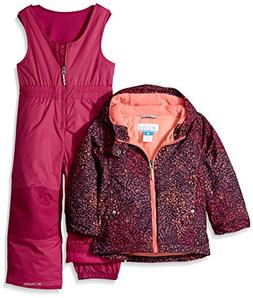 Columbia Girls' Little Frosty Slope Set, Deep Blush Snow Spl