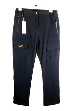 NONWE Men's Mountain Fleece Outdoor Hiking Snow Ski Pants Bl