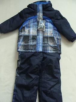 NWT Boys Zero XPosur Snowsuit S 4 Winter Jacket Coat Bibs Pa