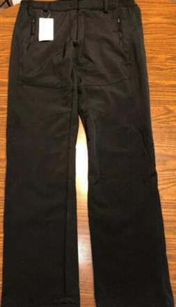 SNOW PANTS  Skiing Snowboarding Black~Size M ~Adult Fleece L