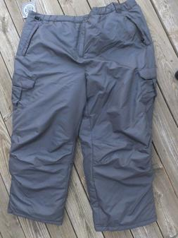 Artic Quest  Men's Snow Board/Ski Pants Size Large Gray, NWT