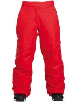DC Banshee K Snowboard Pants Chinese Red Youth Sz XS