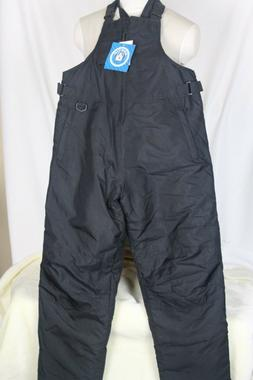 Arctic Quest Black Bib Snow Pants Youth S or M Ski Snowboard