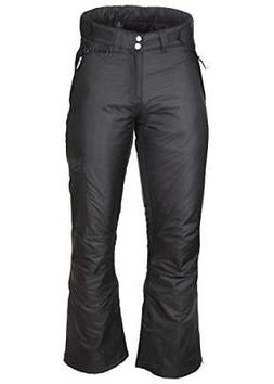 Arctic Quest Womens Black Insulated Pocket Ski Snow Pants, 2