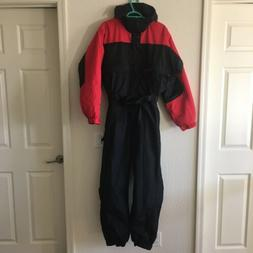 Columbia Black Red Snow Suit Ski Snowboard Pants One Piece J
