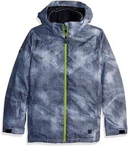 Quiksilver Boys' Big Mission Printed Youth 10K Snow Jacket,