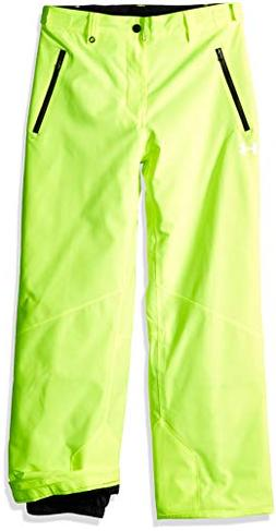 Under Armour Boys' Big Rooter Insulated Pant, hi gh/vis Yell