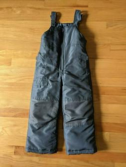 London Fog Boys Girls Snow Pants Bib Overalls Gray Size 5 6
