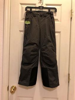 REI Boys Gray/ Black Fleece Lined Snowboarding Ski Snow Pant