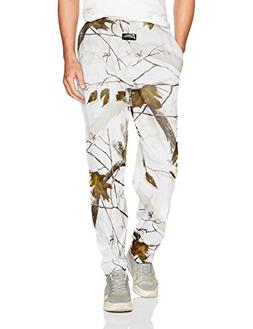Zubaz Men's Camo Printed Athletic Lounge Pants, Realtree Sno