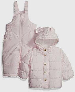 Carter's Infant Girl Snowsuit Bib Snow Pants Jacket Coat Set