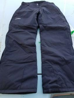 Arctix Full Side Zip Insulated SNOW Pants LARGE BLACK Mens p