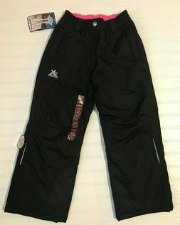 ZEROXPOSUR Girl's Black Snow Pants Size 7/8 Performance Comf