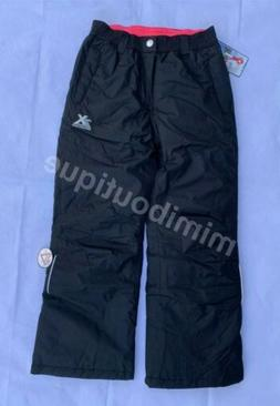 ZeroXposur Girl's Performance Snow Pants Winter Ski Black Bo