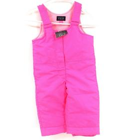 """Girls Hot Pink """"the children's Place"""" overall snow pants NWT"""