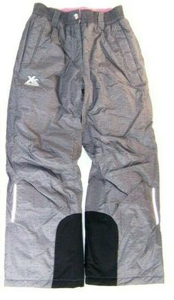 ZeroXposur Girls Snow Pants NWT Insulated Ski Pants Gray or