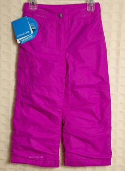 COLUMBIA Girls Snow Pants RESISTS WATER Ski Snowboard Pink T