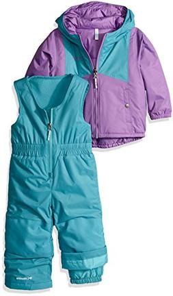 Columbia Girls' Toddler Double Flake Set, Crown Jewel, Pacif