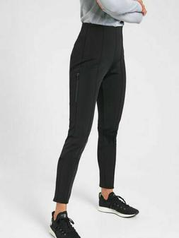 ATHLETA GLACIER SNOW SKINNY PANT SIZE 6 BLACK SKI PANTS NWOT