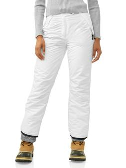 Iceburg Womens White Snow Insulated Pants Waterproof Outwear