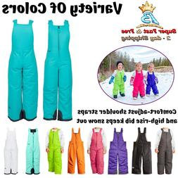 Infant Toddler High Insulated Snow Bib Overalls Lightweight