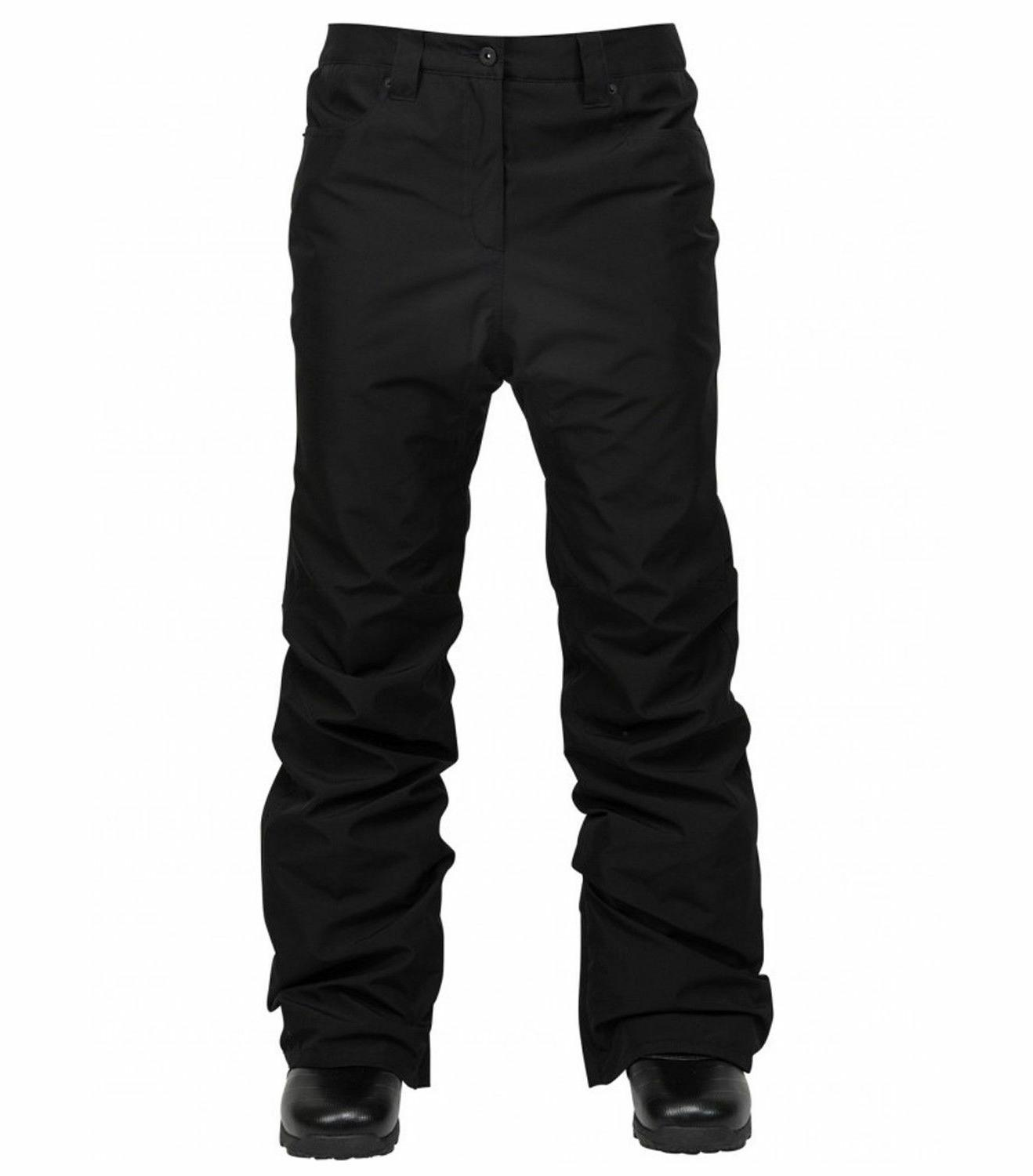 2018 NWT L1 PREMIUM SLIM BASIC SNOW PANT L $200 Black Waterp