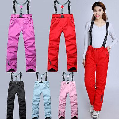 2018 Women's Winter Waterproof Snow Pants Sport Ski Trousers
