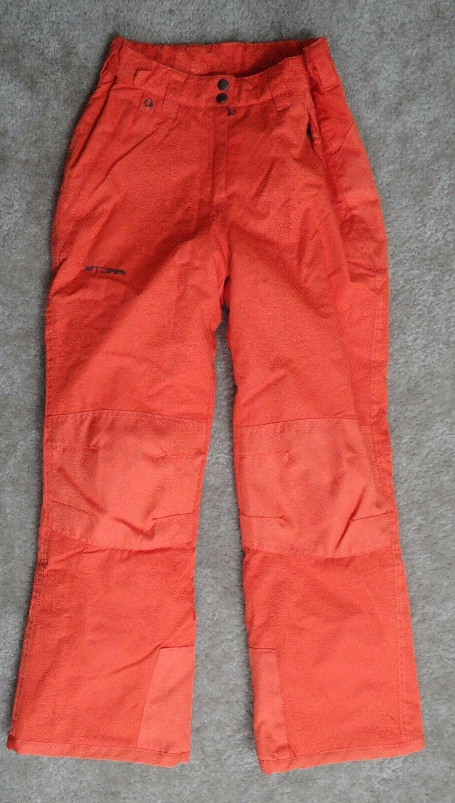 Arctix Youth orange Snow Pants with Reinforced Knees and Sea