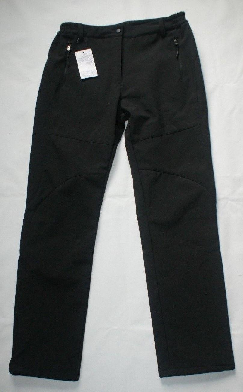 Geval Winter Ski/Snow Pants, Black, Wind Proof, Fleece Lined