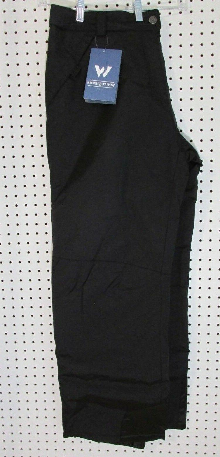 Mens White Sierra Insulated Snow Pants, Snowboard Pant Black