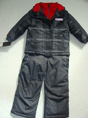 NWT Boys Zero XPosur Snow Suit Size 4 Jacket Coat Bibs Pants