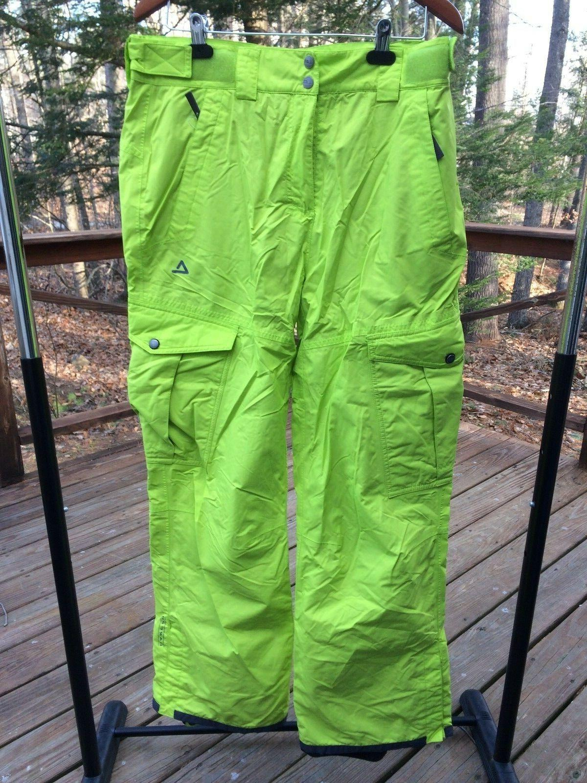 NWT Dare2b Men L 36 Standout Ski Snowboarding Lime Insulated