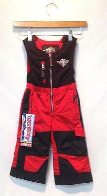 Obermeyer Kids Boys Chill Factor Snow Ski Bib Pants Red Blac