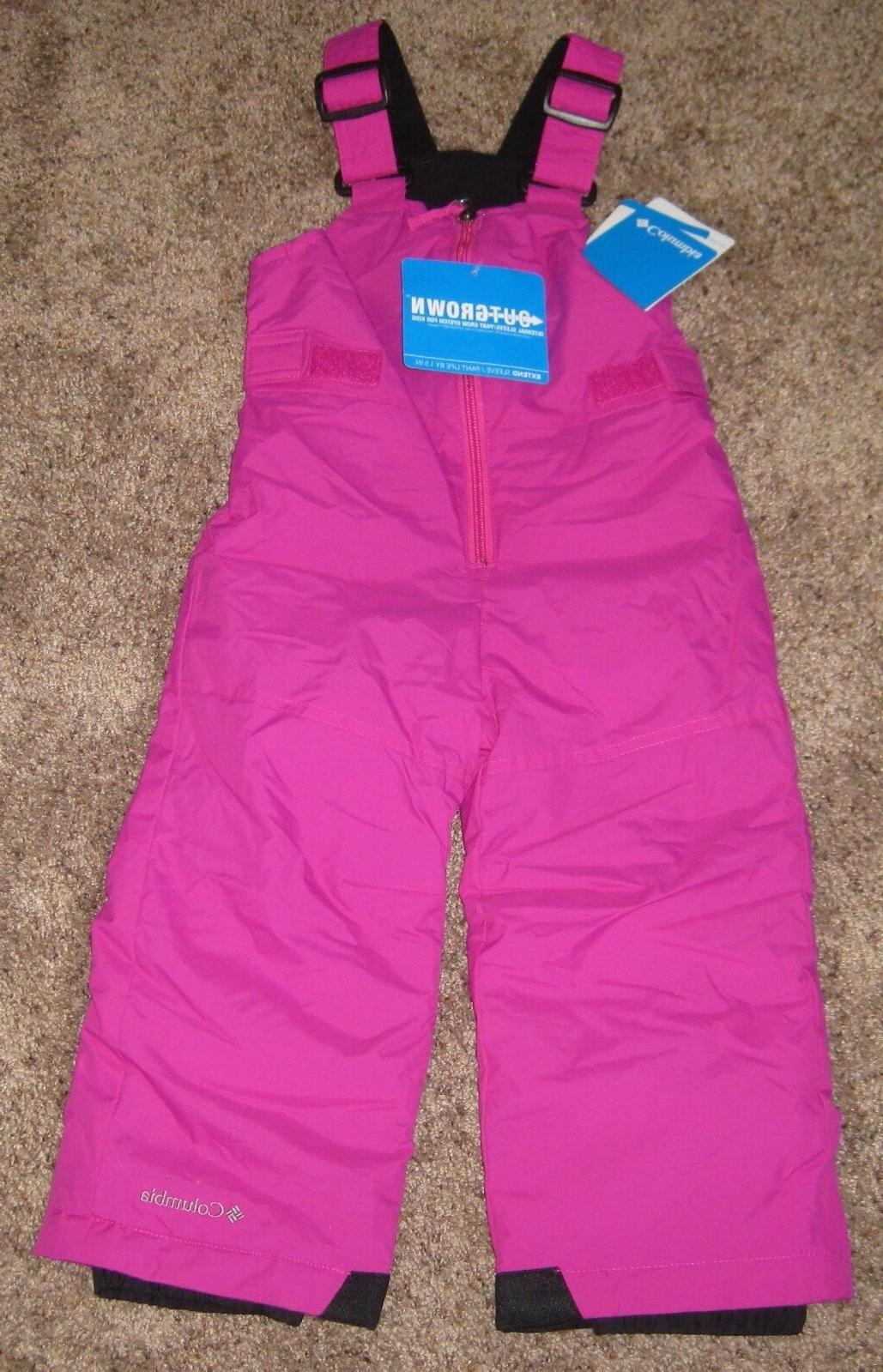 PINK Columbia GIRLS 2T infant Snow Chillee Pants Bibs Ski Wi