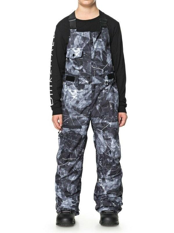 Quiksilver Status Bib Snow Pants - Boys - 14/X-Large, Black