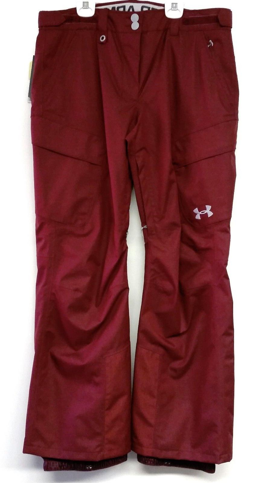 UNDER ARMOUR Men's Snow Pants - Wine - Large - NWT