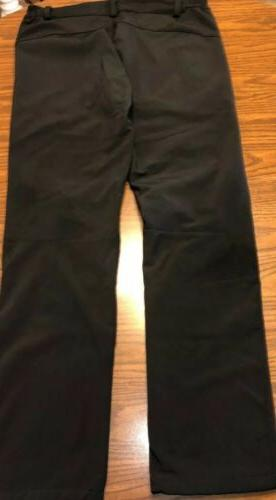 Adults Black Snow Pants-Size 2 Zip Pockets