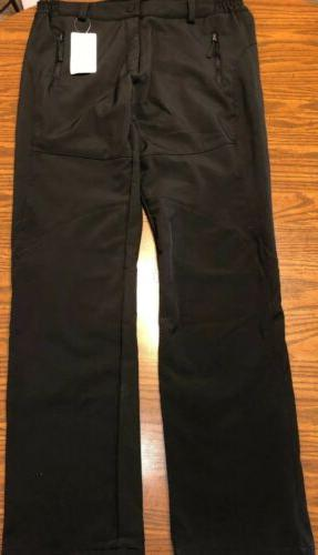 adults black snow pants size m fleece