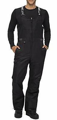 Arctix Men's Athletic Fit Avalanche Bib Overall, Black, Larg
