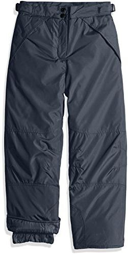 London Fog Boys' Big Classic Heavyweight Snow Pant, New Grey