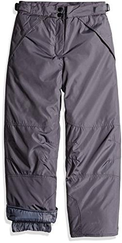 London Fog Big Boys Classic Heavyweight Snow Pant, Grey, 14/