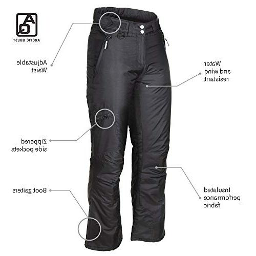 Arctic Womens Black Insulated Pants,