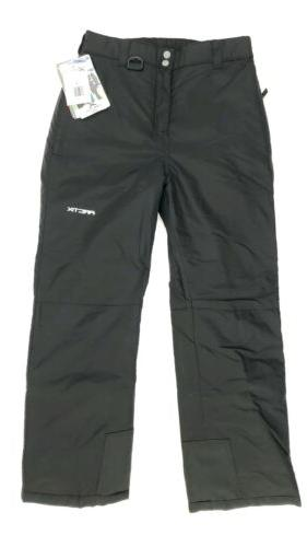 black insulated snow ski pants size youth