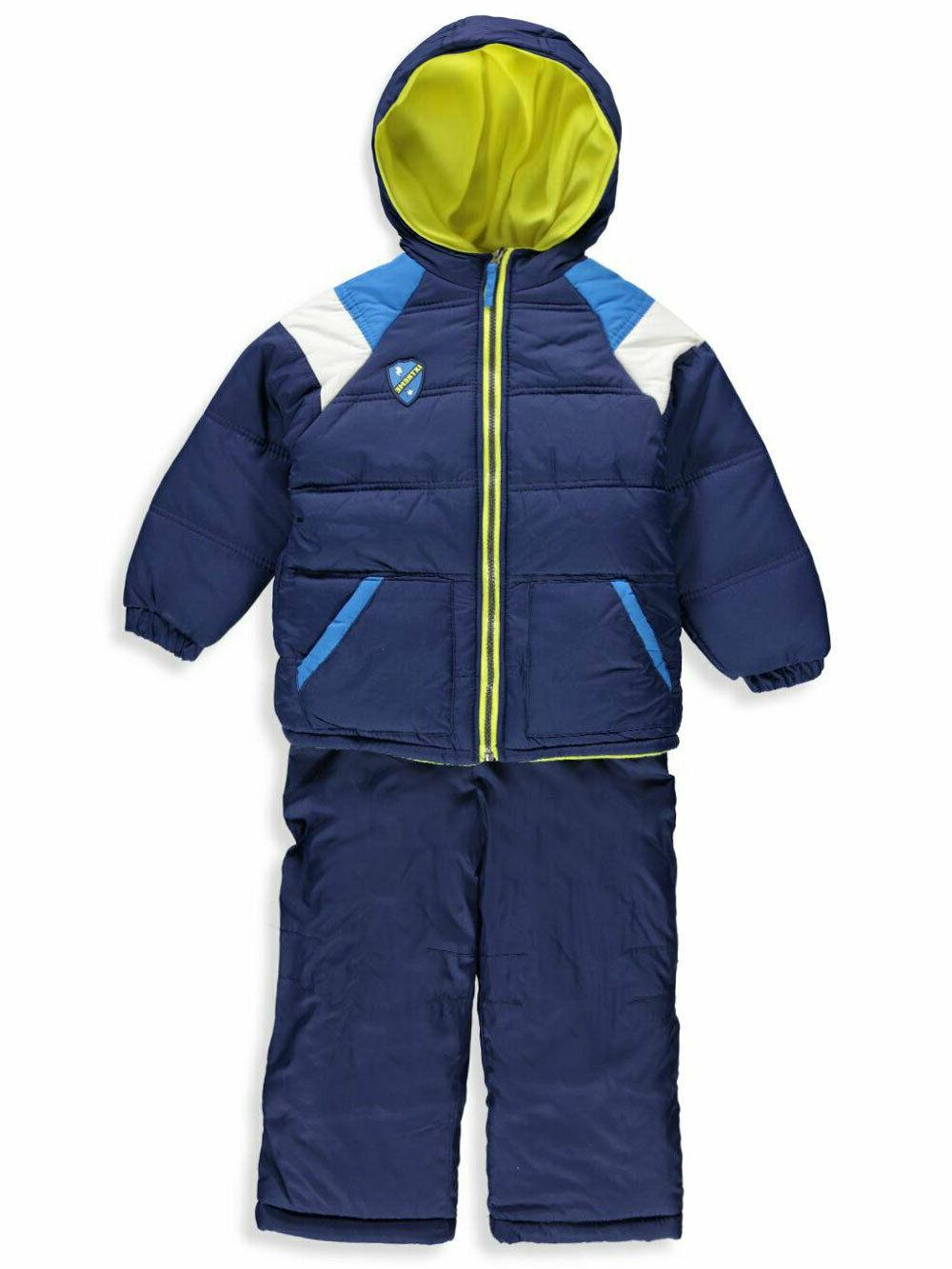 boys active colorblock 2 piece snowbib coat