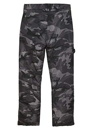Arctic Quest & Girls Water Ski Snow Pants, Black & Grey Camo,