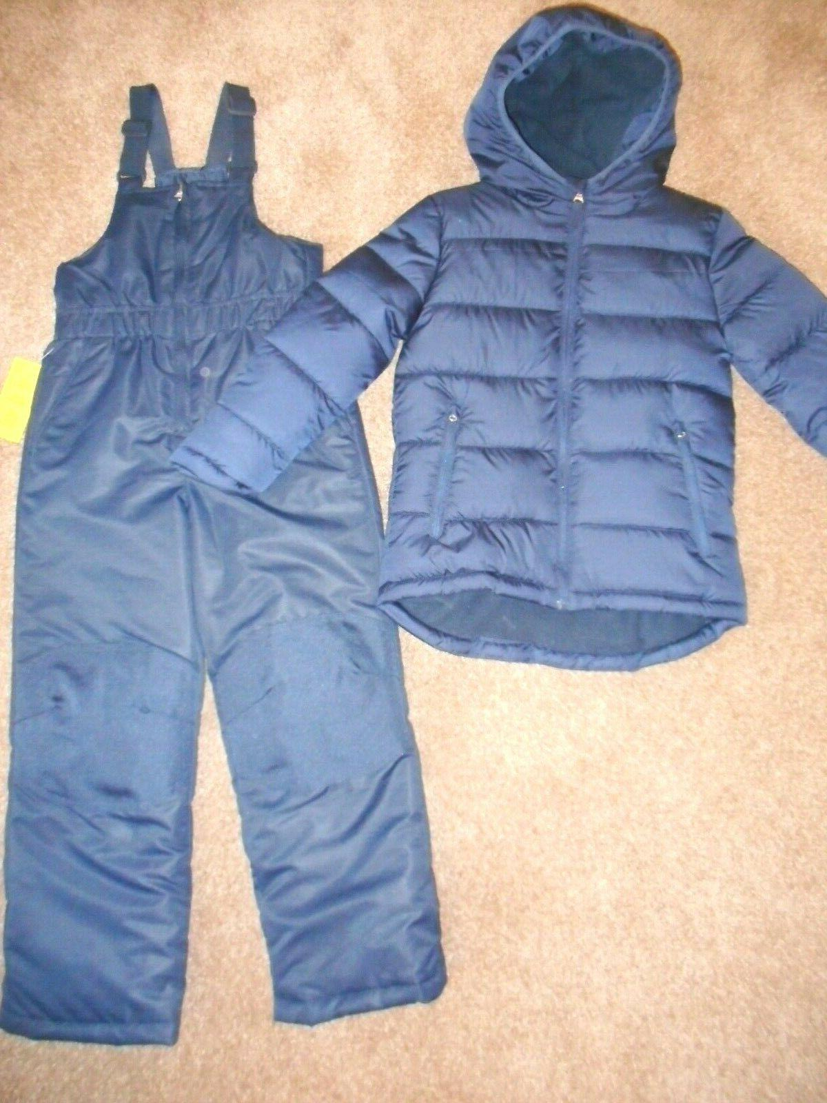 Boys Outerwear Ski Bibs Navy Blue Puffer Jackets Snow pants