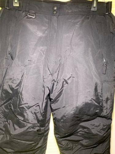 Athletech Mens Black Snow Large with 4 Zippered Pockets