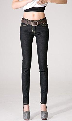 chariot trading woman jeans pencil winter fashion