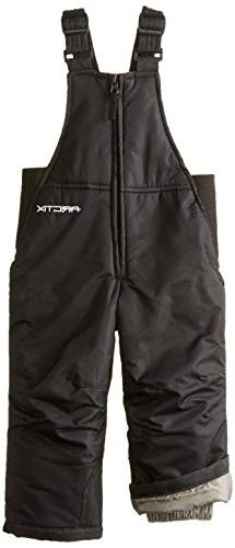 Arctix Infant/Toddler Insulated Snow Bib Overalls,Black,18 M